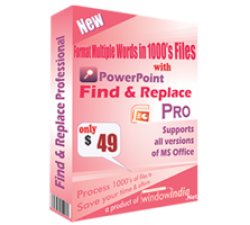 Powerpoint Find and Replace Professional Coupons