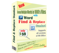 Word Find and Replace Standard Coupons