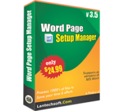 Word Page Setup Manager Coupons