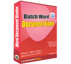 Batch Word Document Binder Coupons