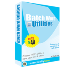 Batch Word Utilities Coupons