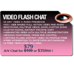 Video Flash Chat - Full Source Code Unlimited License Coupons