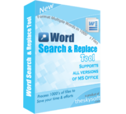 Word Search and Replace Tool Coupons