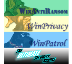 Ultimate Bundle, 5 User License for WinAntiRansom, WinPatrol and WinPrivacy w/ Annual Renewal Coupons